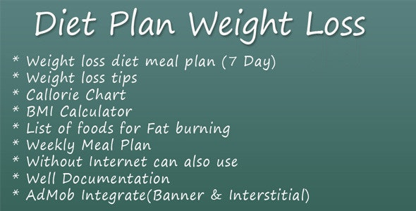 Diet Plan Weight Loss - CodeCanyon Item for Sale