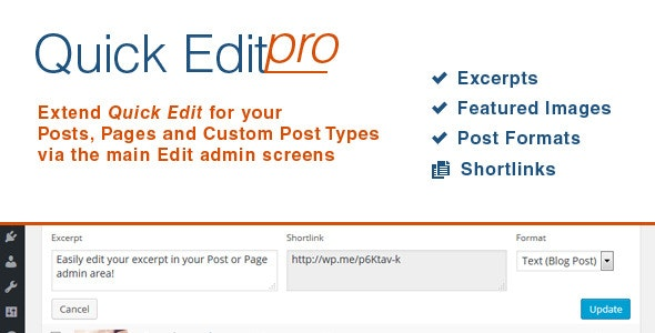 Quick Edit Pro for WordPress - CodeCanyon Item for Sale