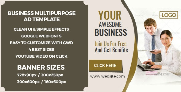GWD AD Banner - HTML5 - CodeCanyon Item for Sale