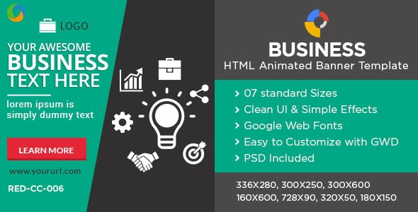 Business HTML5 Banners -7 Sizes - CodeCanyon Item for Sale