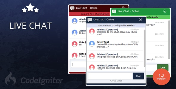 Live Chat - PHP AJAX Real Time Chat System - CodeCanyon Item for Sale