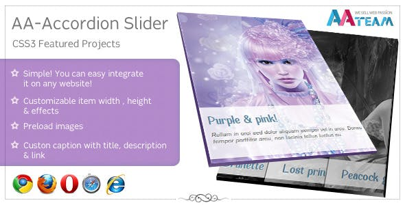 AA-Accordion Slider - CSS3 Featured Projects