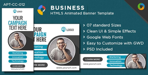 Multipurpose HTML5 Banners - GWD - 7 Sizes - CodeCanyon Item for Sale