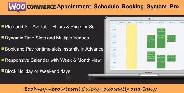 WooCommerce Appointment Schedule Booking System - CodeCanyon Item for Sale