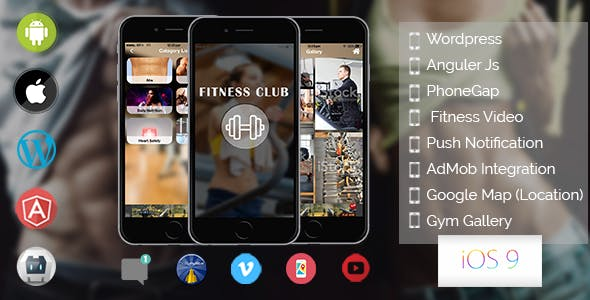 Fitness - Hybride Mobile Application