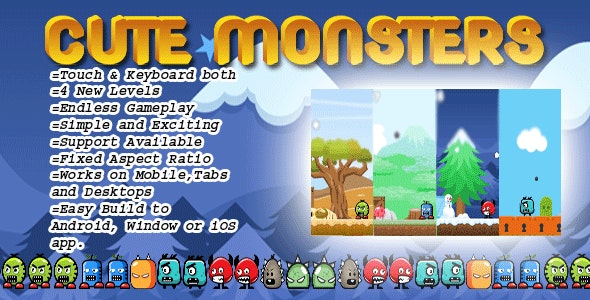 Cute Monsters - CodeCanyon Item for Sale