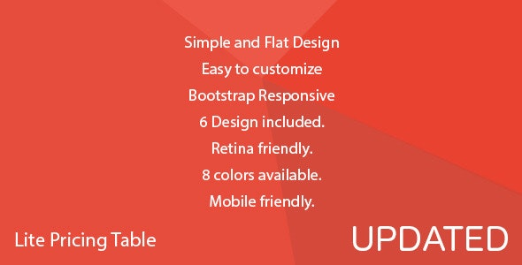 Lite Pricing Table - CodeCanyon Item for Sale