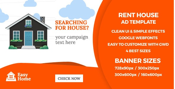EasyHome - GWD HTML5 Ad Banners - CodeCanyon Item for Sale
