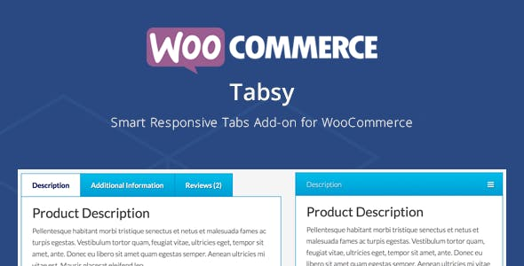 Tabsy | WooCommerce Smart Responsive Tabs Add-on