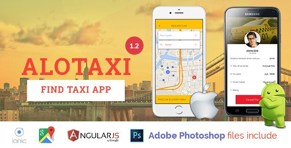 AloTaxi - Mobile App Template - CodeCanyon Item for Sale