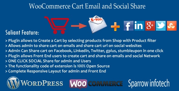 WooCommerce Cart Email and Social Share - CodeCanyon Item for Sale