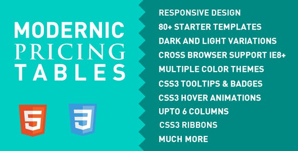 Modernic Pricing Tables