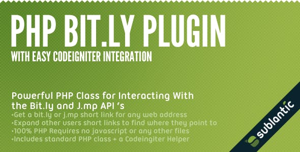 PHP Bit.ly Plugin