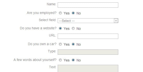 Selective enable/disable form elements with jQuery - CodeCanyon Item for Sale