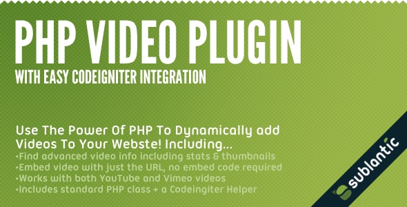 PHP Video Plugin - CodeCanyon Item for Sale