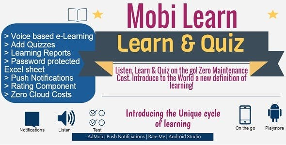 Mobi Learn - LMS with Voice and Quiz, Exam