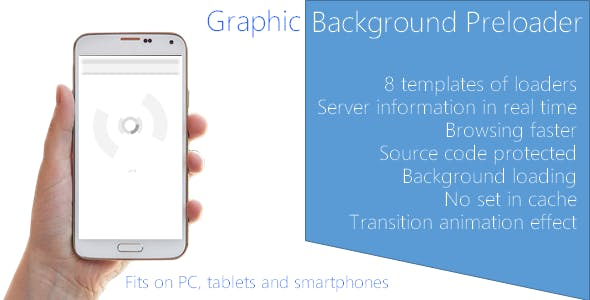 Graphic background website pre-loader