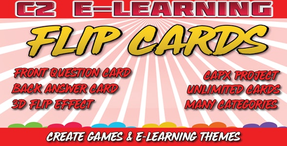 C2 E-Learning Flip Cards - CodeCanyon Item for Sale