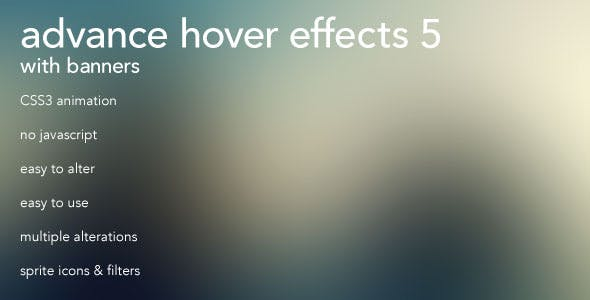 Advanced CSS3 Hover Effects 5 w/ Banners