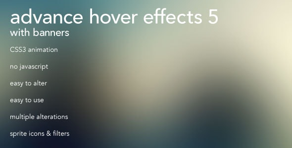 Advanced CSS3 Hover Effects 5 w/ Banners  - CodeCanyon Item for Sale