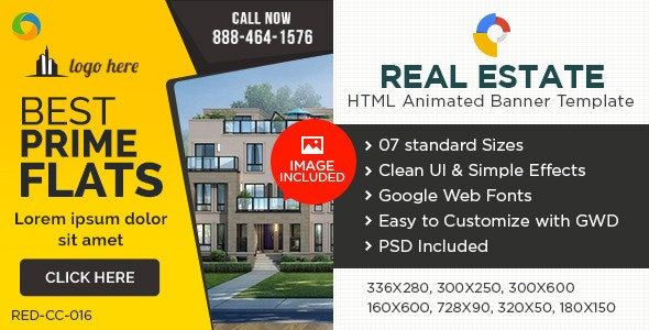 HTML5 Real Estate Banners - GWD - 7 Sizes - CodeCanyon Item for Sale