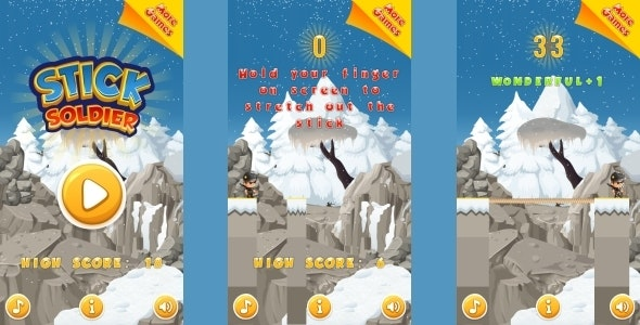 Stick Soldier - HTML5 Mobile Game (Construct 3 | Construct 2 | Capx) - CodeCanyon Item for Sale