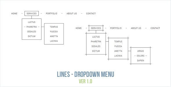 Lines - Dropdown Menu