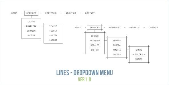 Lines - Dropdown Menu - CodeCanyon Item for Sale