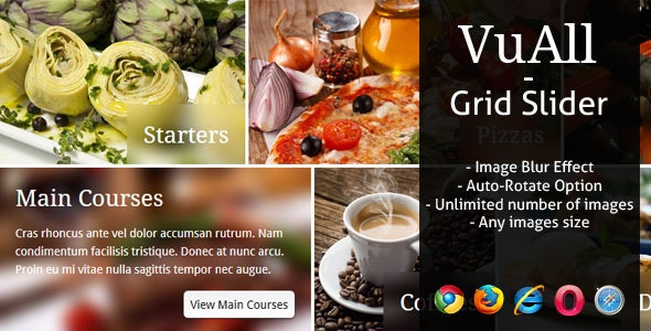 VuAll - Creative jQuery Grid Slider - CodeCanyon Item for Sale