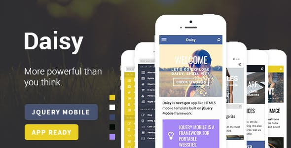 Daisy Mobile Web & App Template | WebAPP / PhoneGap / Cordova Ready