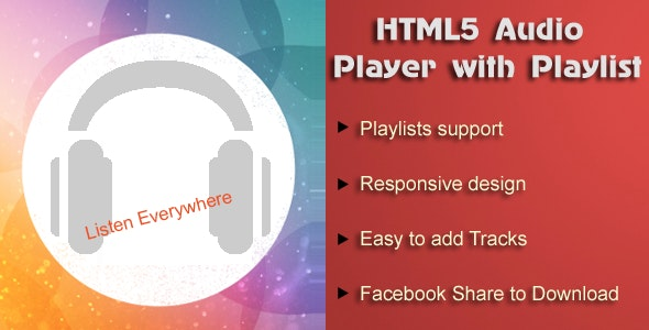 HTML5 Audio Player with Playlist for Wordpress - CodeCanyon Item for Sale
