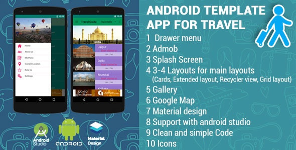 Android App Template for Travel - CodeCanyon Item for Sale