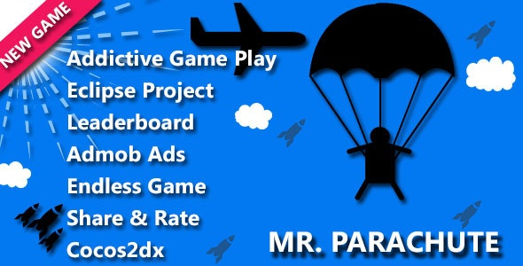 Mr Parachute Game - CodeCanyon Item for Sale