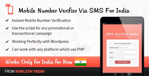 Mobile Number Verifier Via SMS For India - CodeCanyon Item for Sale
