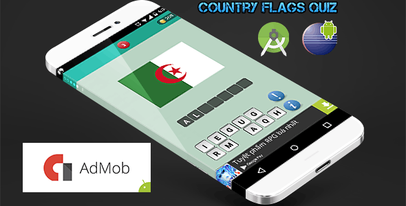 Country Flags Quiz - Find The Word Template
