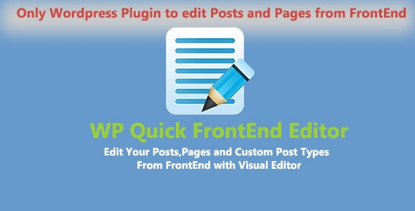 WP Quick Frontend Editor by labibahmed | CodeCanyon