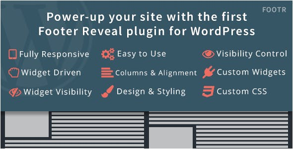 Footr : Footer Reveal Plugin for WordPress