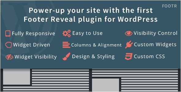 Footr : Footer Reveal Plugin for WordPress - CodeCanyon Item for Sale