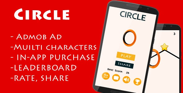 Circle - Admob and Leaderboard - CodeCanyon Item for Sale