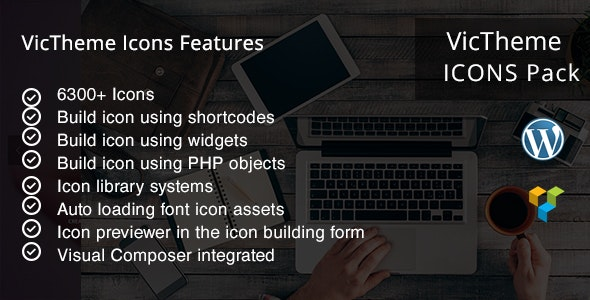 VicTheme Icons - WPBakery Page Builder Addon - CodeCanyon Item for Sale