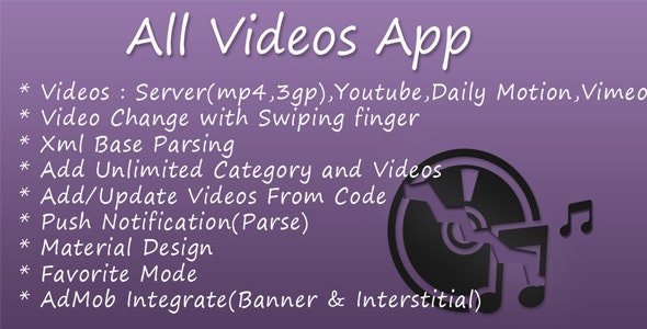 All Videos App - CodeCanyon Item for Sale