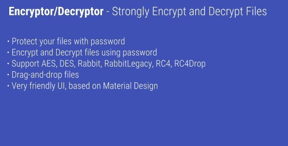 Encryptor/Decryptor - Encrypt and decrypt files - CodeCanyon Item for Sale