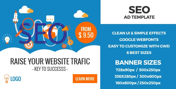 SEO HTML5 GWD Ad Banners - CodeCanyon Item for Sale