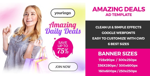 Amazing Deals - GWD Ad Bannner - CodeCanyon Item for Sale