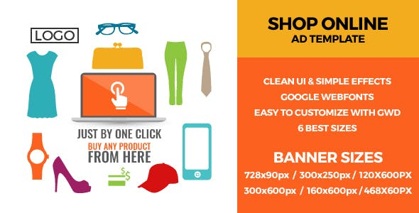 Online Shopping 2 - GWD Ad Banners