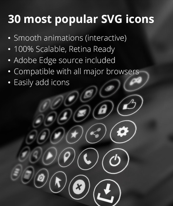 30 SVG icons - CodeCanyon Item for Sale