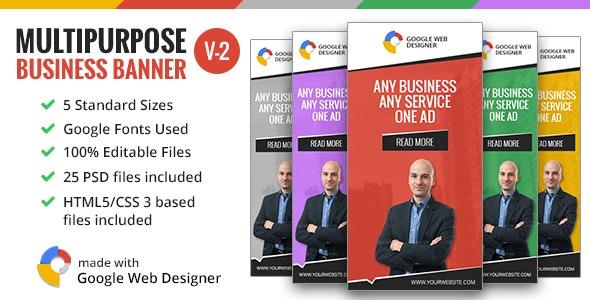 Multipurpose Business Banner 002 - V2 - CodeCanyon Item for Sale