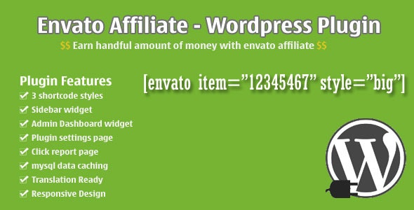 Envato Affiliate - CodeCanyon Item for Sale