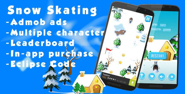 Snow Skating - Admob and Leaderboard
