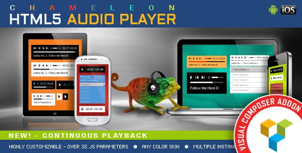 Visual Composer Addon - Chameleon Audio Player for WPBakery Page Builder